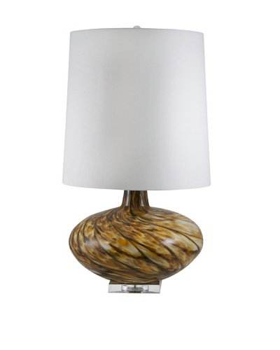 Aurora Lighting Swirl Blown Glass Table Lamp [Amber]
