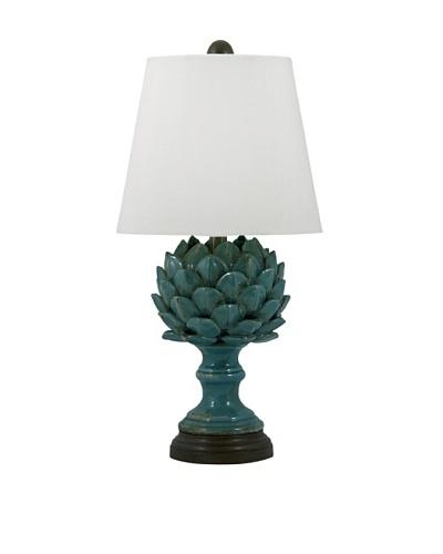 Aurora Lighting Ceramic Artichoke Table Lamp [Blue]