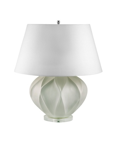 Aurora Lighting White Bisque Lotus Ceramic Table Lamp
