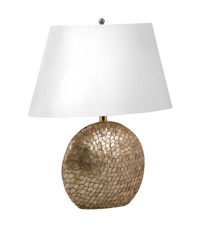 Aurora Lighting Oval Capiz Shell Table Lamp [Bronze]