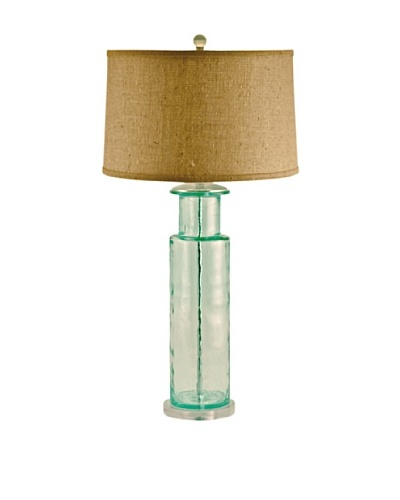 Aurora Lighting Recycled Glass Cylinder Table Lamp [Green]