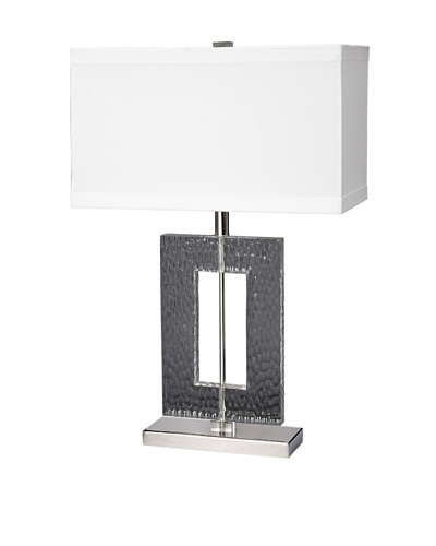 Aurora Lighting Etched Rectangle Table Lamp