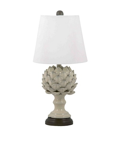 Aurora Lighting Ceramic Artichoke Table Lamp [Cream]