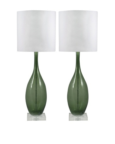 Aurora Lighting Seed Glass Table Lamp [Green]