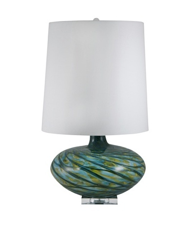 Aurora Lighting Swirl Blown Glass Table Lamp [Blue]