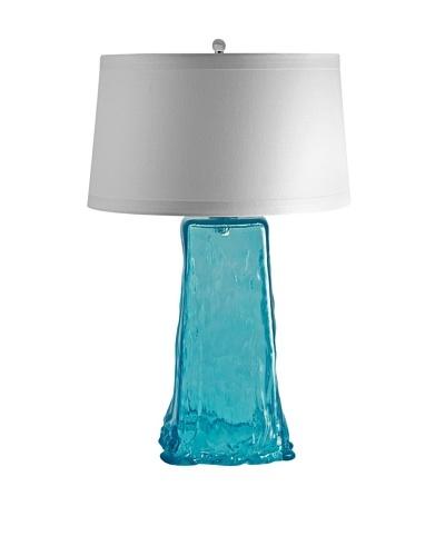 Aurora Lighting Wave Recycled Glass Table Lamp [Aqua]