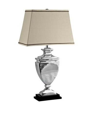 Aurora Lighting Polished Aluminum Stepped Urn, Silver