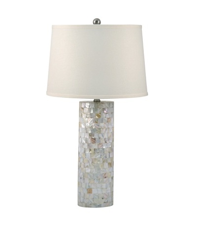 Aurora Lighting Mother of Pearl Cylinder Table Lamp