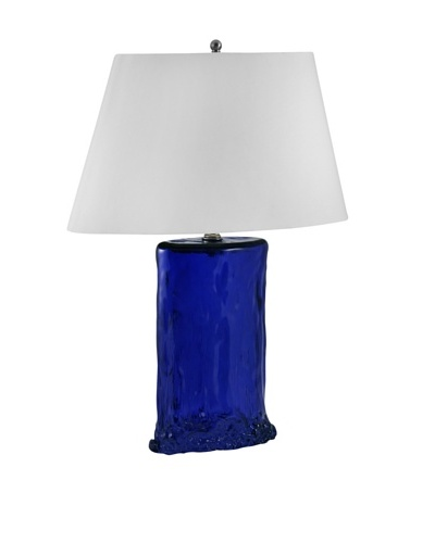 Aurora Lighting Oval Recycled Glass Table Lamp [Cobalt]