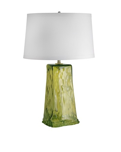 Aurora Lighting Wave Recycled Glass Table Lamp [Chartruese]