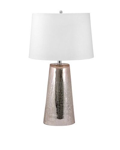Aurora Lighting Crackle Mercury Glass Table Lamp