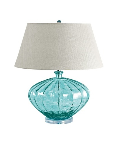 Aurora Lighting Recycled Glass Melon Table Lamp [Blue]