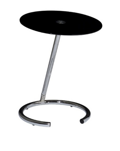 Avenue 6 Yield Telephone Table, Chrome/Black