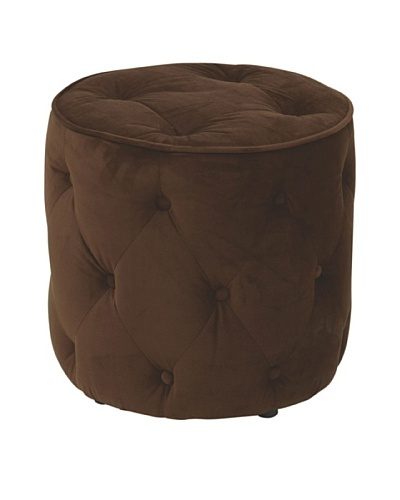 Avenue 6 Curves Tufted Round Ottoman, ChocolateAs You See