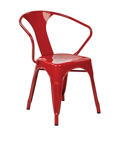 Avenue 6 Paterson Metal Chair, Red