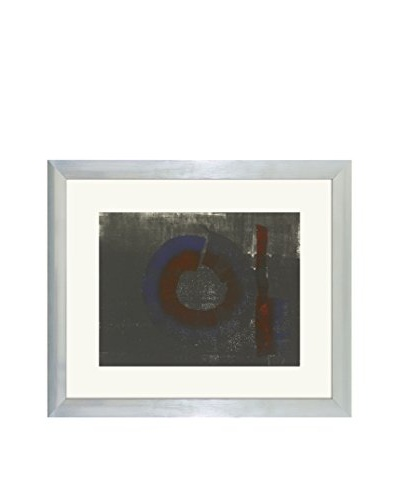 Aviva Stanoff One-of-a-Kind Handpainted Grey Framed Lithograph
