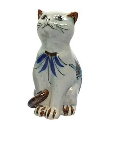 Handpainted/Signed Mountain Cats, White, Blue, Brown