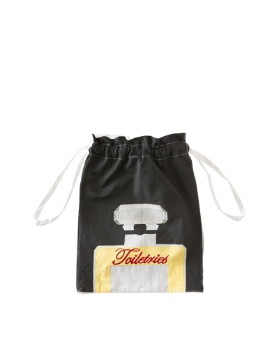 Aviva Stanoff Toiletries Laundry Bag, Black/Yellow