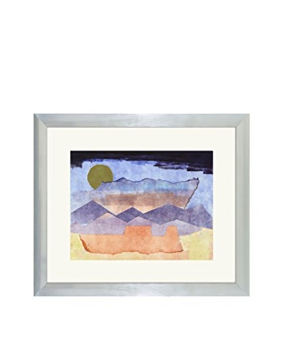 Aviva Stanoff One-of-a-Kind Handpainted Blue & Purple Framed Lithograph