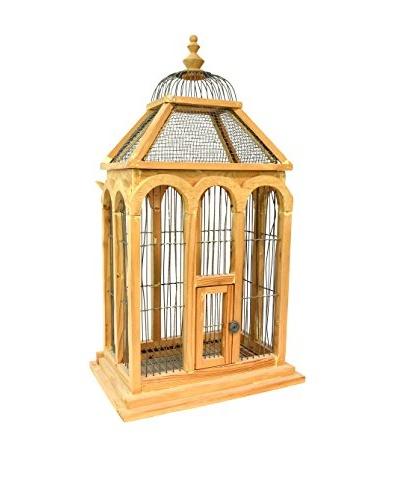 Aviva Stanoff Vintage Birdcage With Drawer, Light Brown