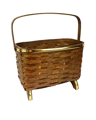 Vintage Basket, Brown/Brass