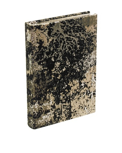 Aviva Stanoff Gilt-Edged Estate Keepsake Wide-Ruled Journal, Charcoal