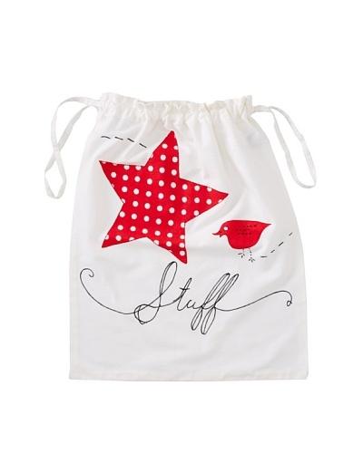 Aviva Stanoff Stuff Laundry Bag, White/Red/Black