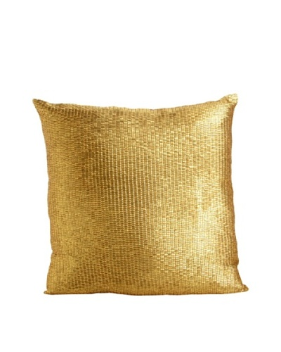 Aviva Stanoff Mercury Sequins Pillow, Gold