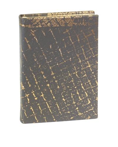 Aviva Stanoff Gilt-Edged Vinyl Keepsake Wide-Ruled Journal, Gold/Silver