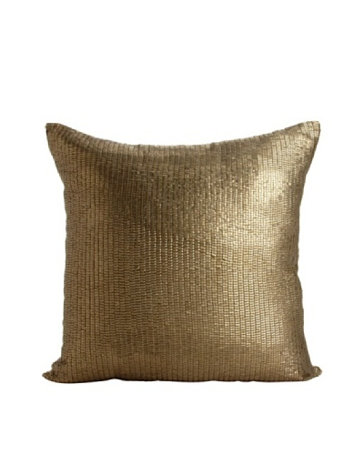 Aviva Stanoff Mercury Sequins Pillow, Antique Gold