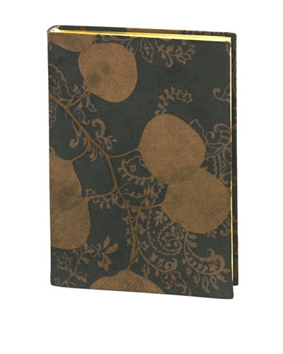 Aviva Stanoff Gilt-Edged Suede Keepsake Journal, Blue/Chocolate
