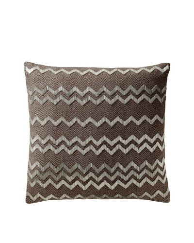 Aviva Stanoff Herringbone Pillow, Brown