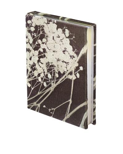 Aviva Stanoff Gilt-Edged Velvet Keepsake Wide-Ruled Journal, Kohl