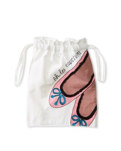 Aviva Stanoff Ballet Laundry Bag, White/Pink/Black