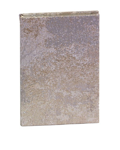 Aviva Stanoff Gilt-Edged Estate Keepsake Wide-Ruled Journal, Silver
