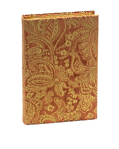 Aviva Stanoff Gilt-Edged Velvet Keepsake Wide-Ruled Journal, Rose Gold