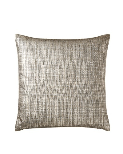 Aviva Stanoff Basketweave Pillow, Silver