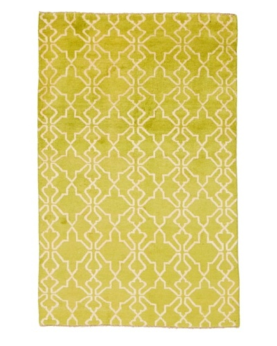 "Azra Imports Vogue Rug, Green/Ivory, 3' 9"" x 6' 8"""