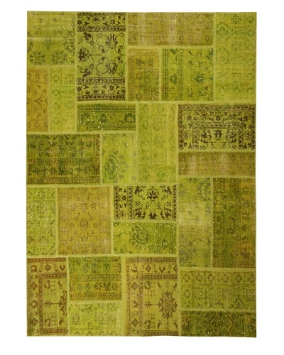 Azra Imports Overdyed Vintage Patchwork Rug [Green]