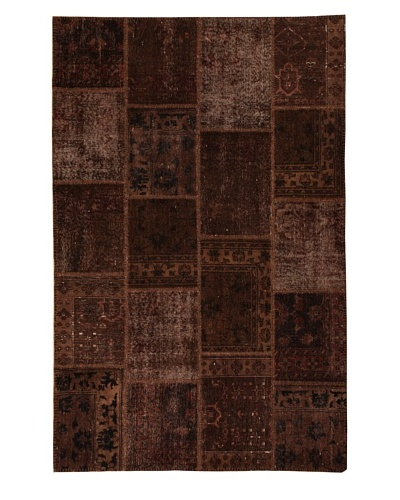 Azra Imports Overdyed Vintage Patchwork Rug [Brown]