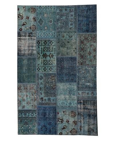 Azra Imports Overdyed Vintage Patchwork Rug [Sky Blue]