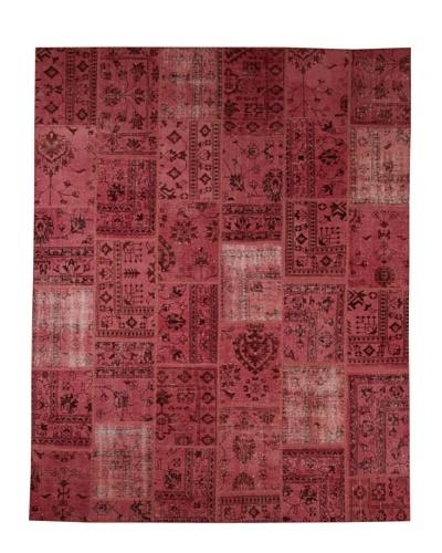Azra Imports Overdyed Vintage Patchwork Rug [Pink]