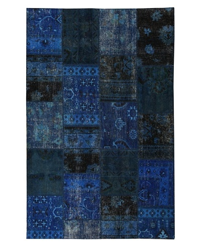 Azra Imports Overdyed Vintage Patchwork Rug [Navy Blue]