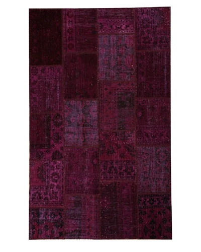 Azra Imports Overdyed Vintage Patchwork Rug [Purple]