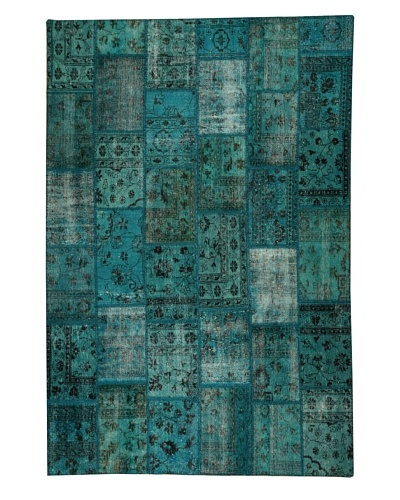 Azra Imports Overdyed Vintage Patchwork Rug [Turquoise]