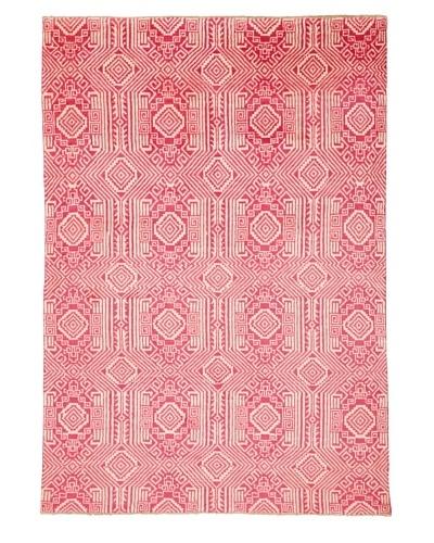 Azra Imports Vogue Rug, Rose/Ivory, 5' 4 x 7' 7