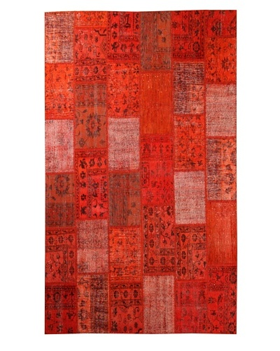 Azra Imports Overdyed Vintage Patchwork Rug [Orange]