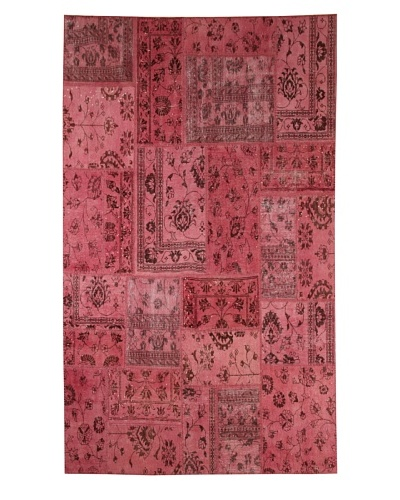 Azra Imports Overdyed Vintage Patchwork Rug [Pink]