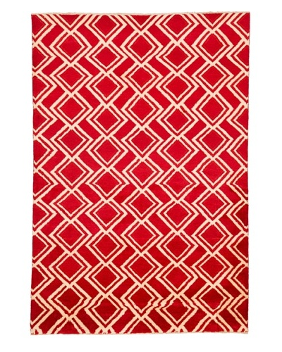 "Azra Imports Vogue Rug, Red/Ivory, 5' 3"" x 7' 8"""