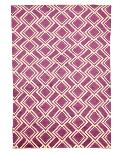 "Azra Imports Vogue Rug, Purple/Ivory, 5' 3"" x 7' 5"""